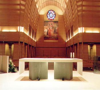 Basilica di Don Bosco a Castelnuvo Don Bosco Pavimento in pietra Dema Presbiterio e ambone in bianco di Risani