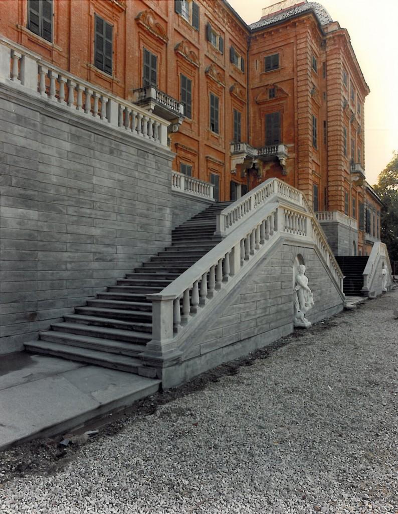 Castello di Racconigi, restauro dello scalone Nord