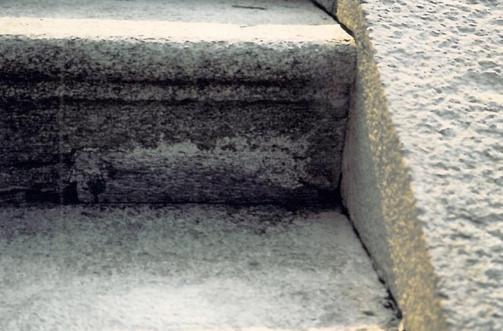 Castello di Racconigi, restauro dello scalone Nord Dettaglio della scalinata completata
