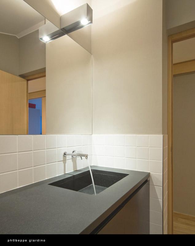 Piano lavabo in granito nero assoluto