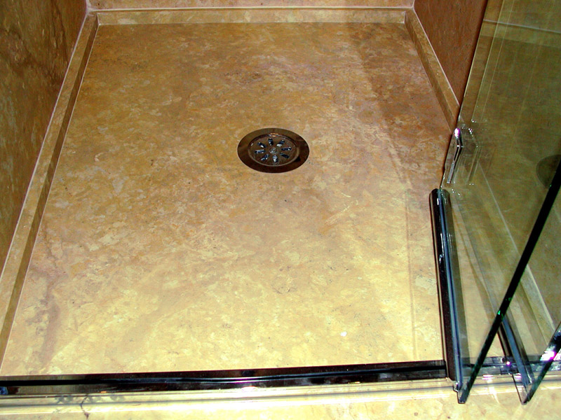Piatto doccia in ocra stone